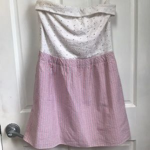 Lilly Pulitzer Eyelet Seersucker Dress Size Small